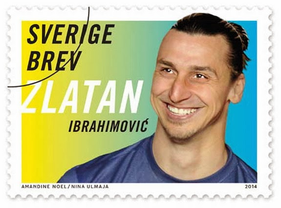 Zlatan Ibrahimović is to feature on the stamps issued by the Swedish Postal Office