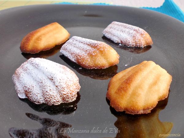 madeleines de miel y almendras