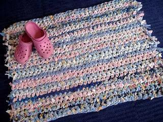 tappeto con tessuto riciclato