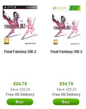 Final Fantasy XIII-2 für Xbox 360 und PS3 bei zavvi für rund 30 Euro