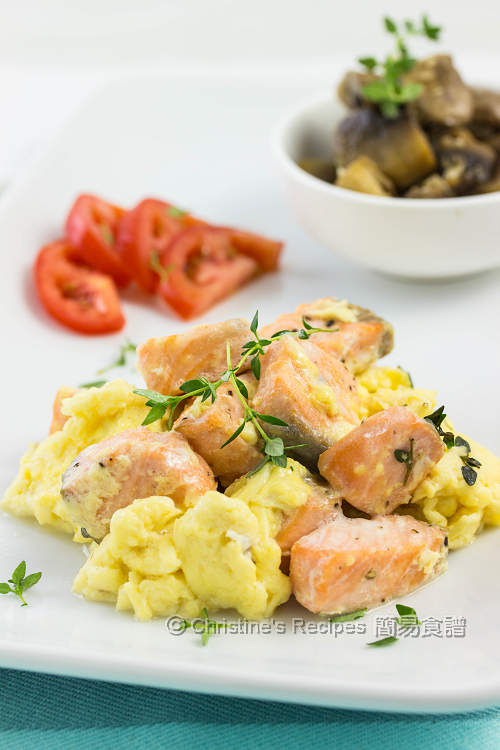 三文魚炒蛋 Salmon & Scrambled Eggs01