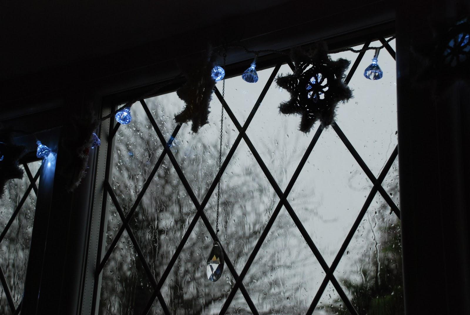 image of rain on window