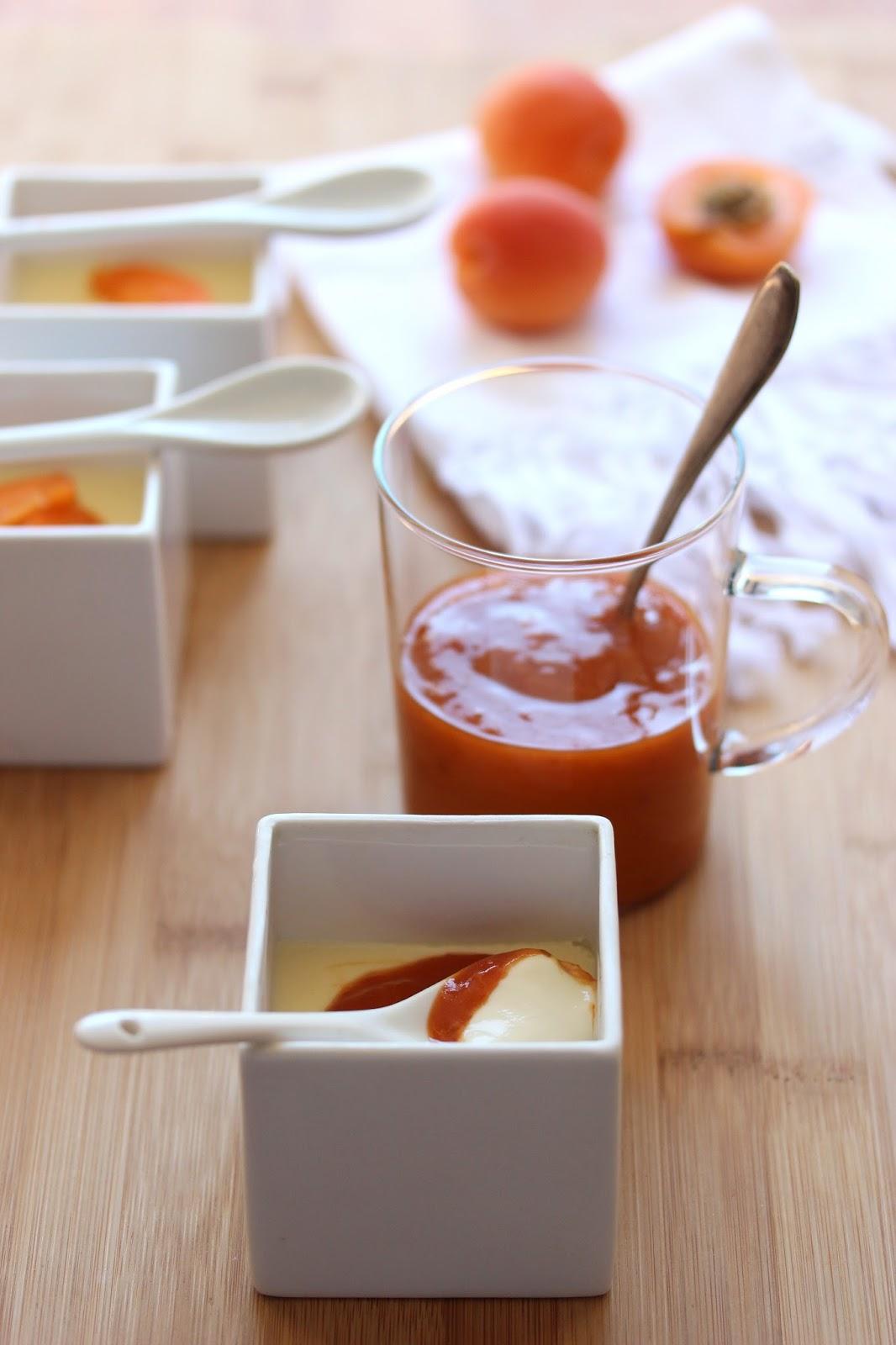 coupe cremeuse aux abricots