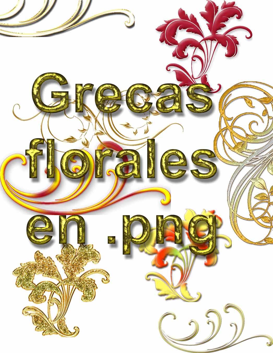 Pin Recursos Graficos Para Diseño Grecas Florales En Png On Pinterest