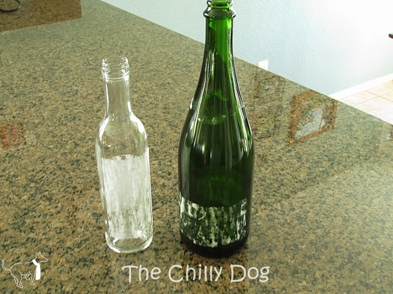 Tip: Non-Toxic method for removing sticky labels from glass bottles and jars using two common household items.