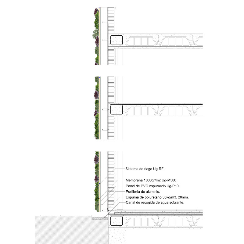 Arkaycos homegreen tipos de fachadas verdes - Tipos de fachadas ...