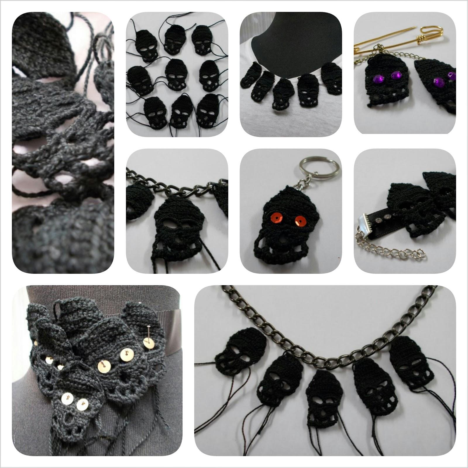 Se me ocurre hacer collares, pulseras, anillos, pendientes, diademas, tocados, broches, adornar ropa.