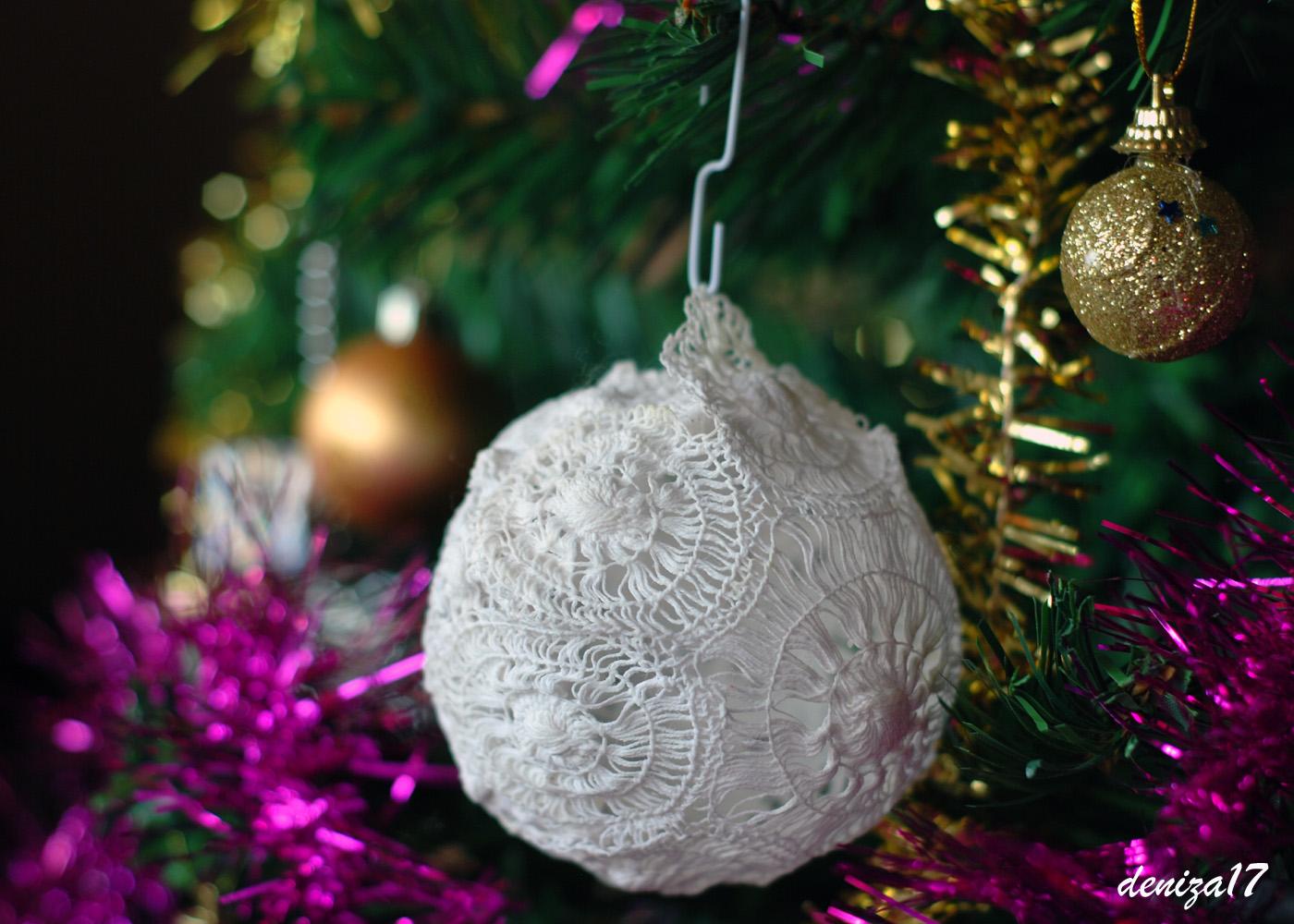 Фото на новогодние шары своими руками