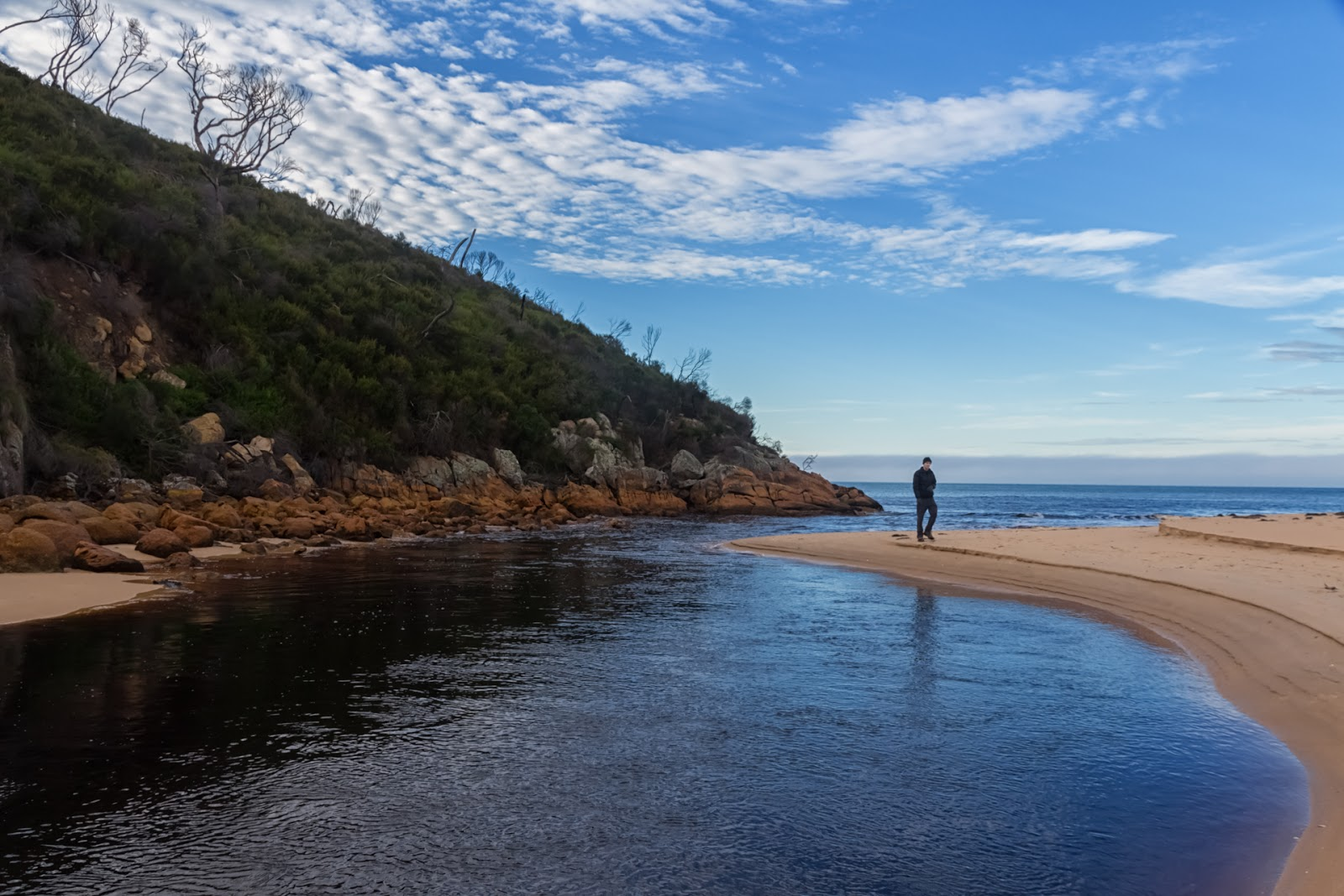 miranda creek outlet to five mile beach wilsons promontory