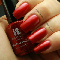 Red Carpet Manicure Gel Polish Glitz and Glamorous Swatch