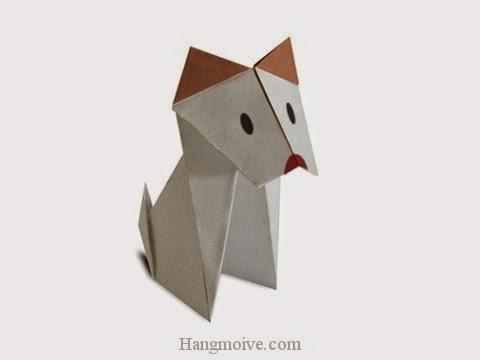 Cách gấp, xếp con Chó dingo bằng giấy origami - Video hướng dẫn xếp hình - How to make a Dingo Dog