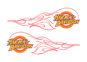 download Logo Harley Davidson flame Vector