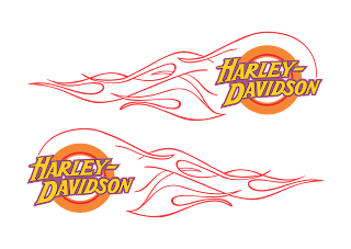 Harley Davidson flame Logo Vector