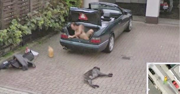 10 أشياء غريبة التقطتها عدسة Google Street View