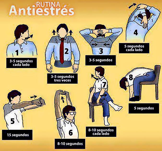 Ay date ocho 8 ejercicios antiestr s en dos minutos for Estiramientos oficina