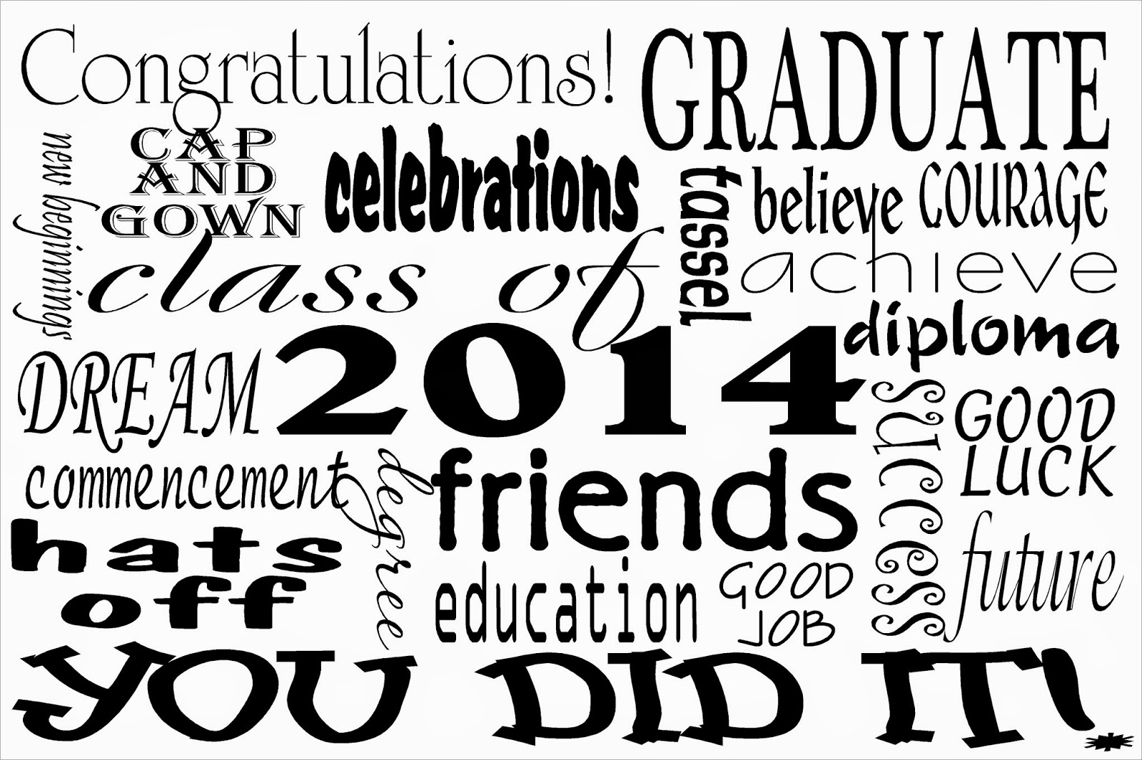 2014 Graduation Subway Art Printable by Kandy Kreations