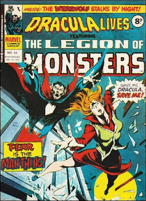 Marvel UK, Dracula Lives #64, Legion of Monsters