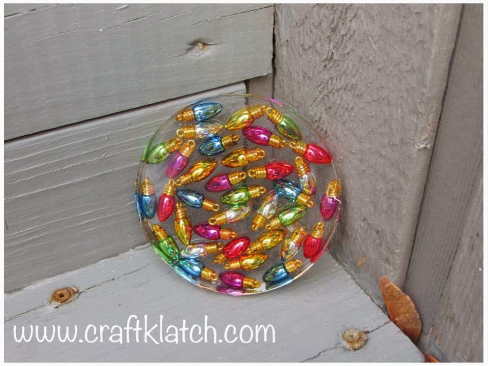 craft klatch christmas lights coaster another coaster