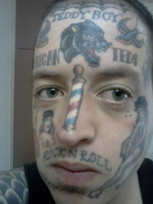 30 Stupid Face Tattoos Damn Cool Pictures