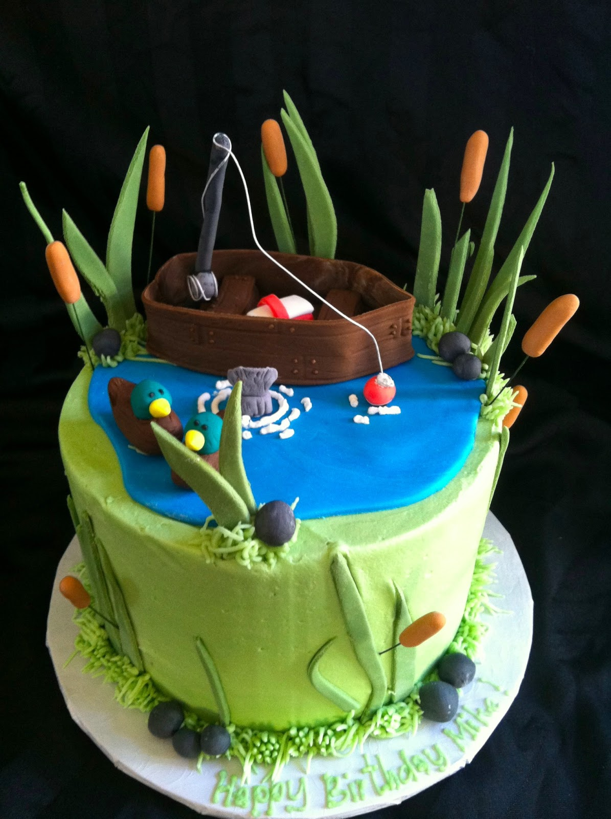 A little something sweet small gone fishing cake for Gone fishing cake