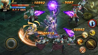 Screenshots of the Chaos combat for Android tablet, phone.