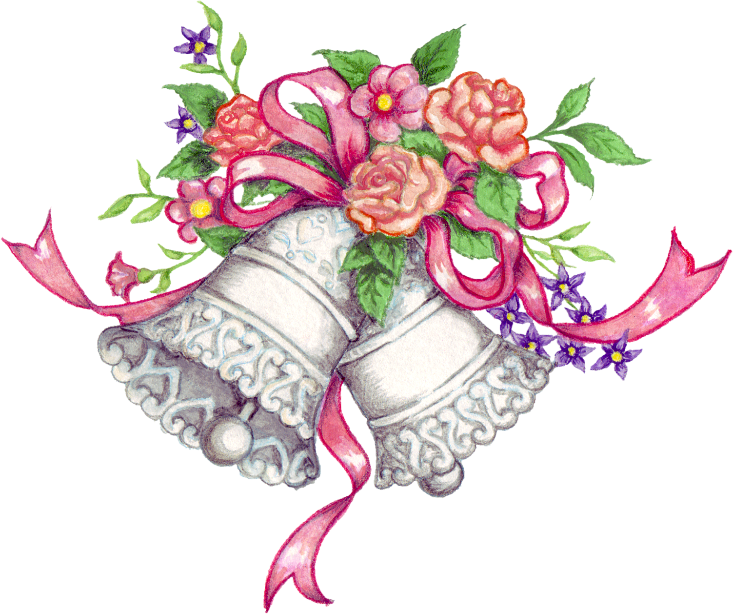 Wedding bells clipart illustration