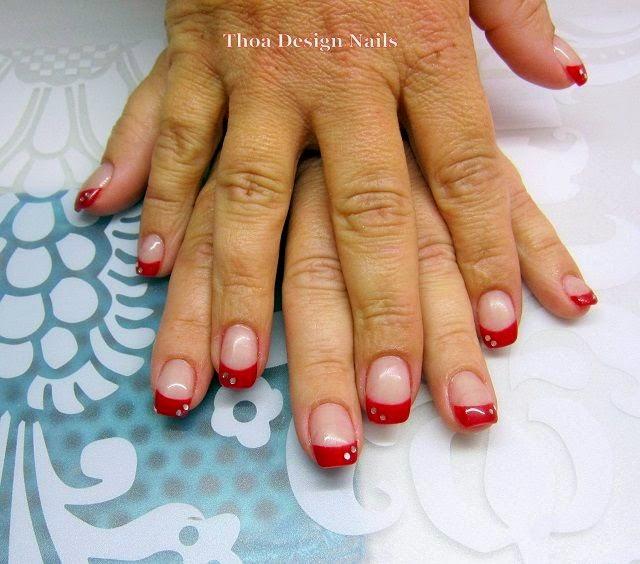french nails rot rote n gel f e mit nagellack gel nageldesign 2018 nagellack welcher ist euch. Black Bedroom Furniture Sets. Home Design Ideas