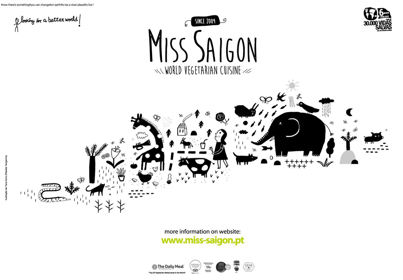 miss saigon - cozinha vegetariana do Mundo