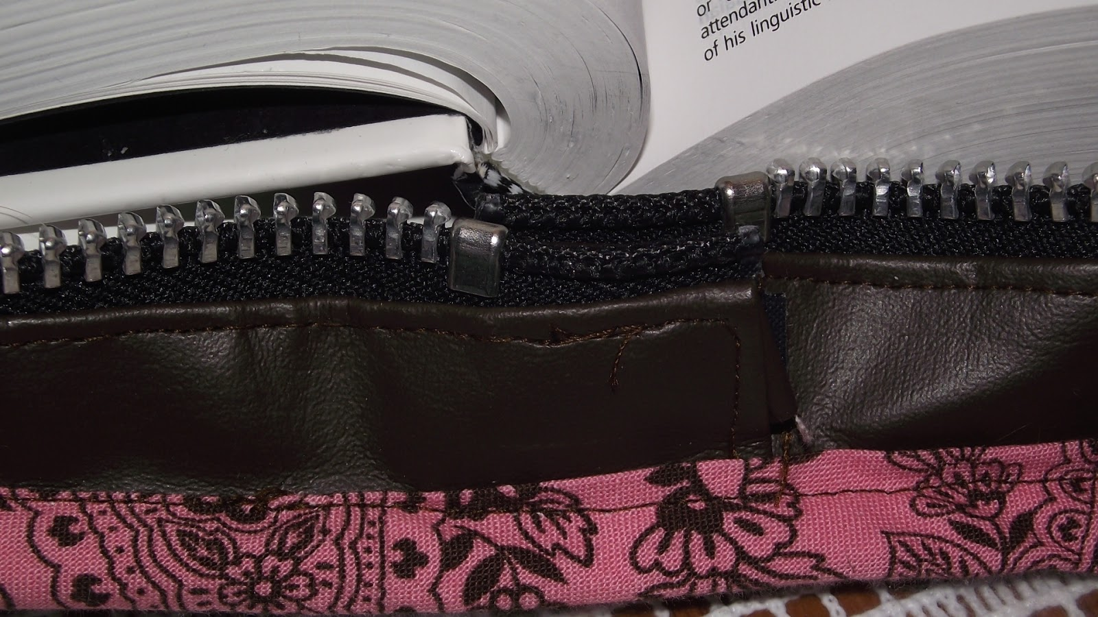 Book Cover Sewing Zippers : Fabulous home sewn zippered book cover tutorial
