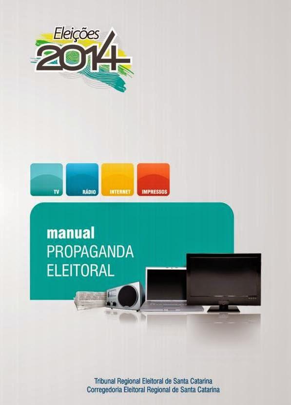 capa do Manual de Propaganda Eleitoral - Eleições 2014
