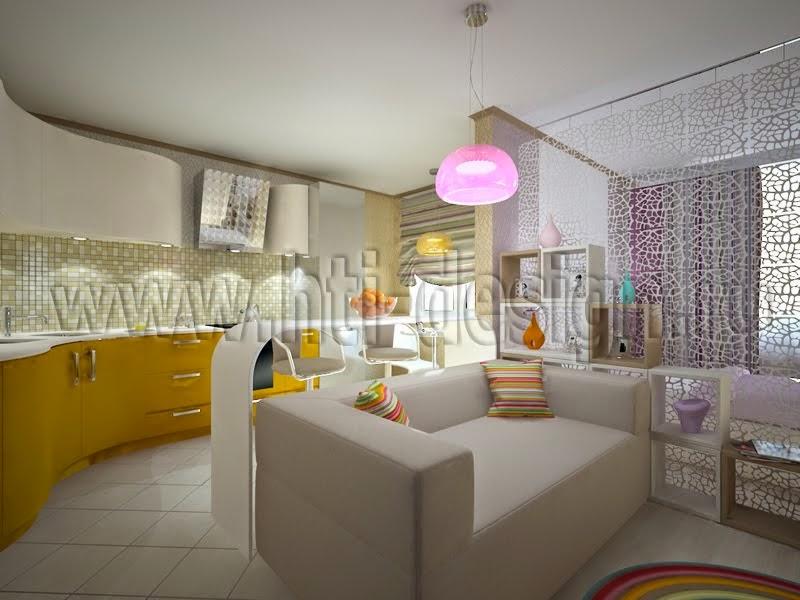 Интерьер квартиры-студии 35 кв.м