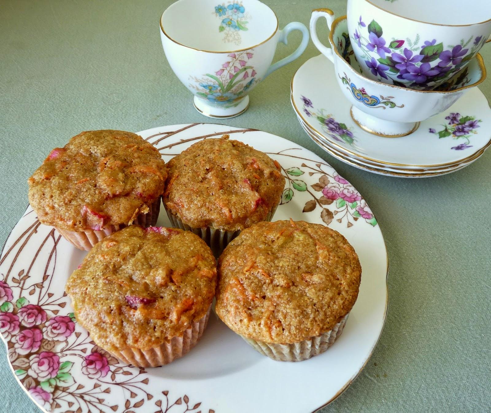 Rhubarb & Carrot Muffins