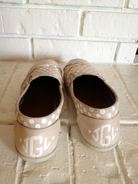 monogram painted shoes
