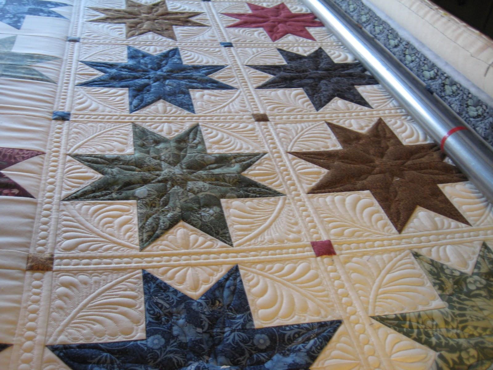Threads On The Floor Star Quilt Progress