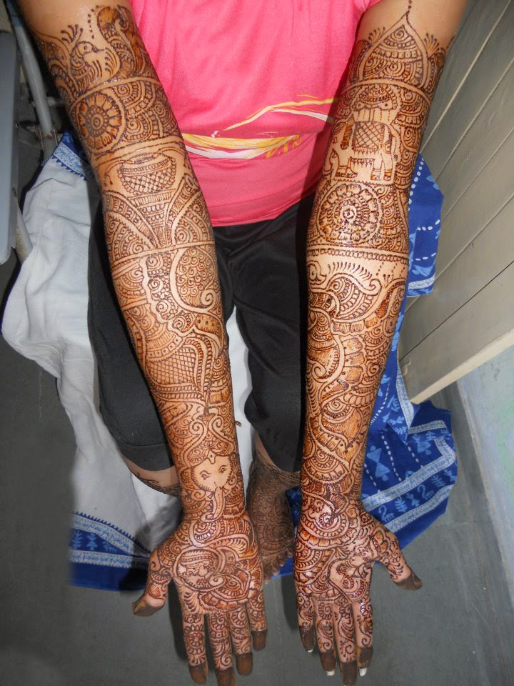 Full Hand Hindi Mehndi Design
