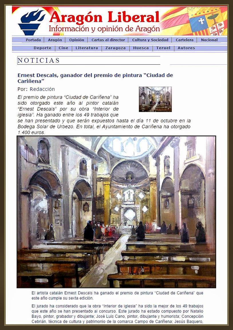 CARIÑEÑA-PINTURA-NOTICIAS-ARAGON-LIBERAL-PREMIO-CONCURSO-PINTOR-ERNEST DESCALS