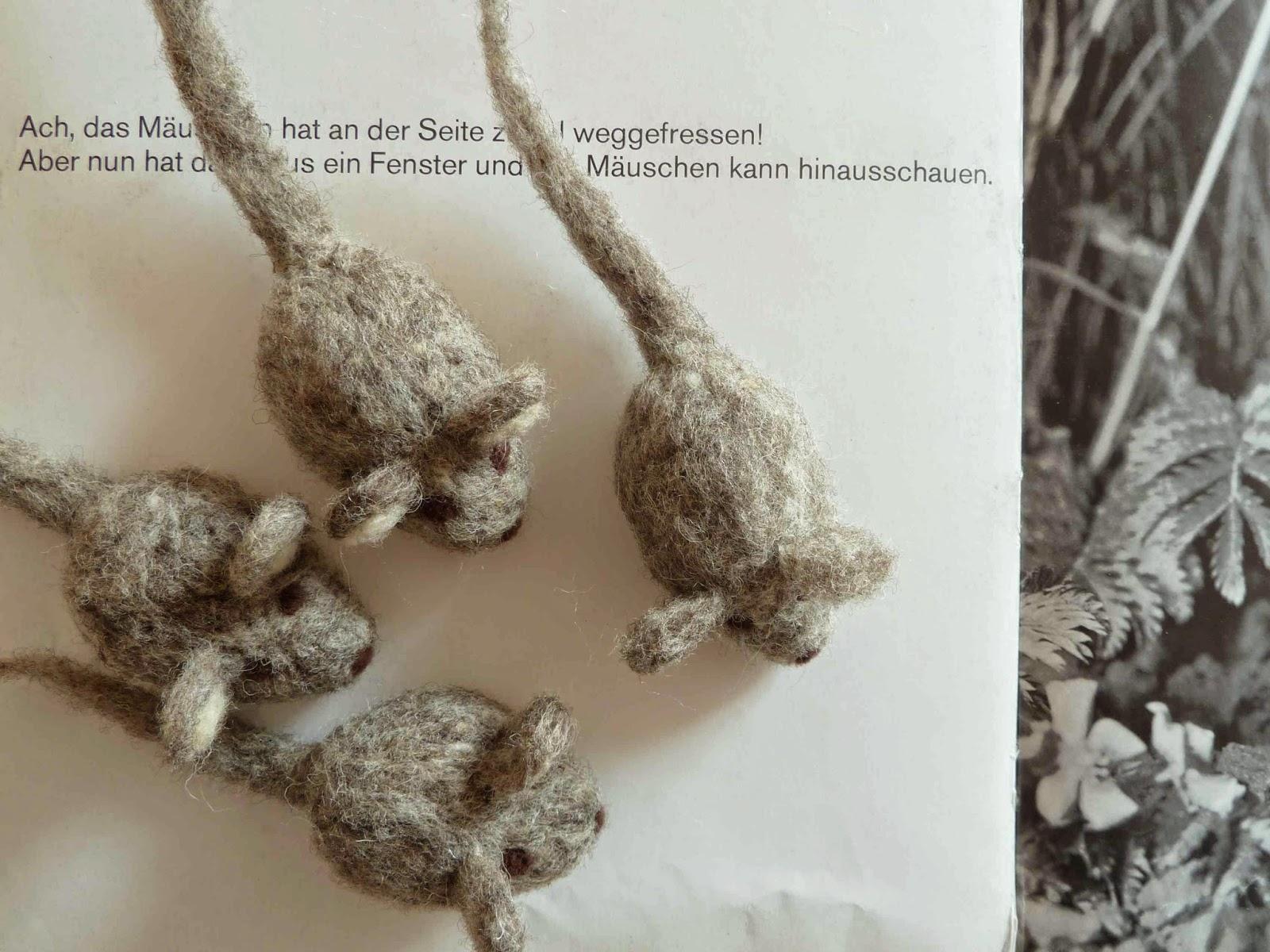 Mäuse filzen needle felting