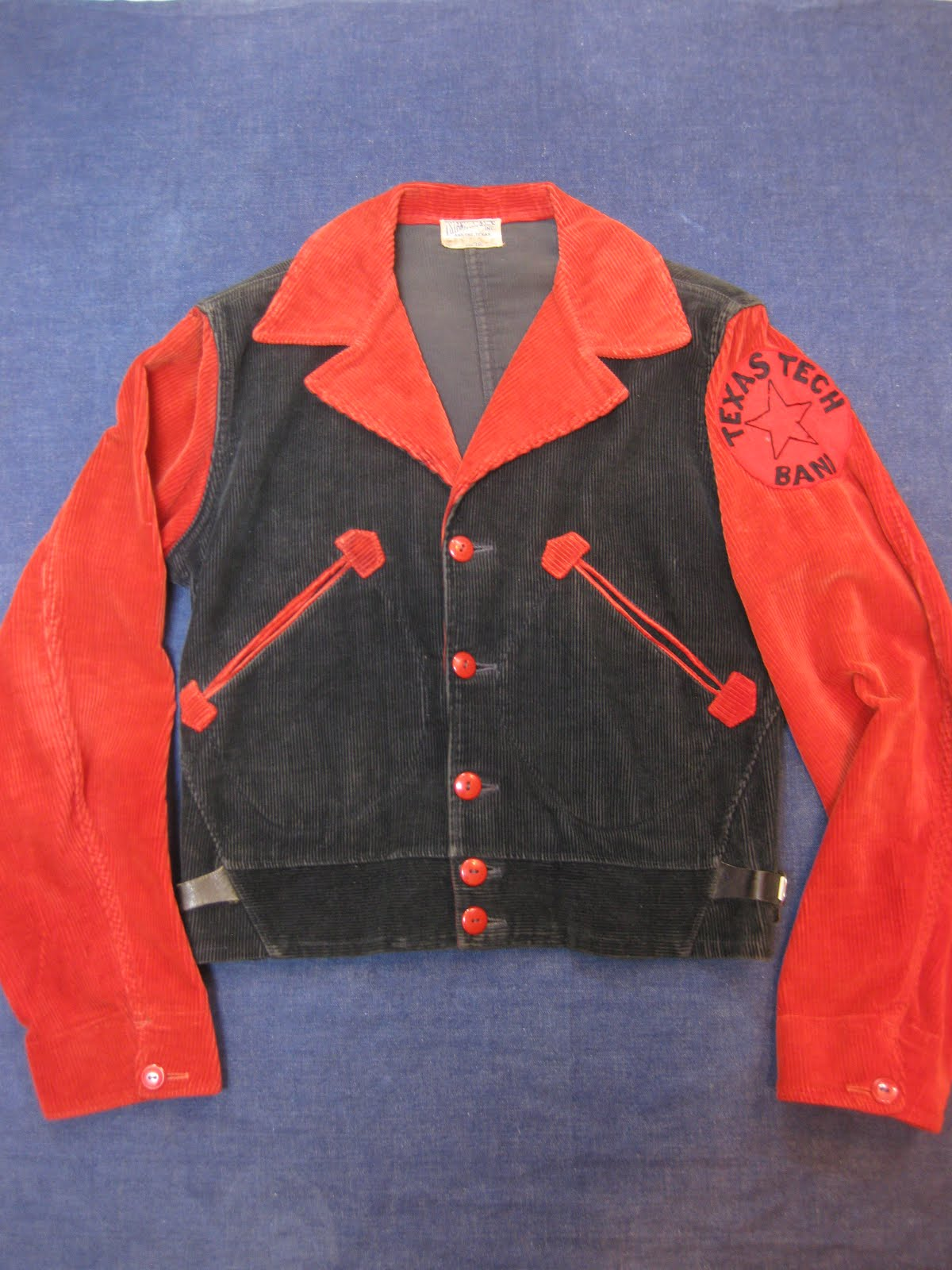 30's A-1 STYLE               CORDUROY                  SPORTS JACKET                    BLACK×RED