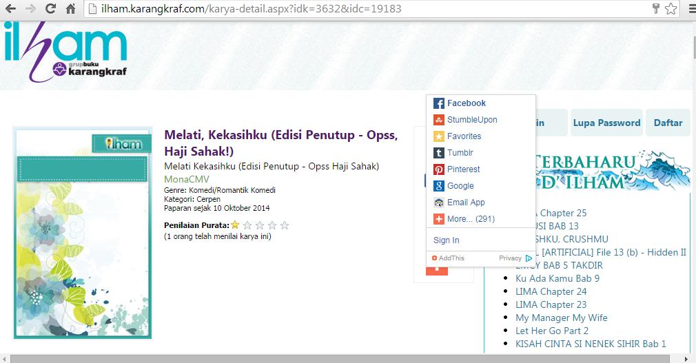 Karya di Ilham Karangkraf - klik untuk baca