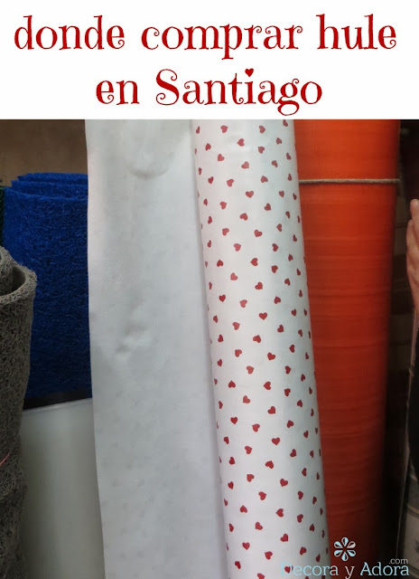 decora y adora: donde comprar mantel de hule en Santiago