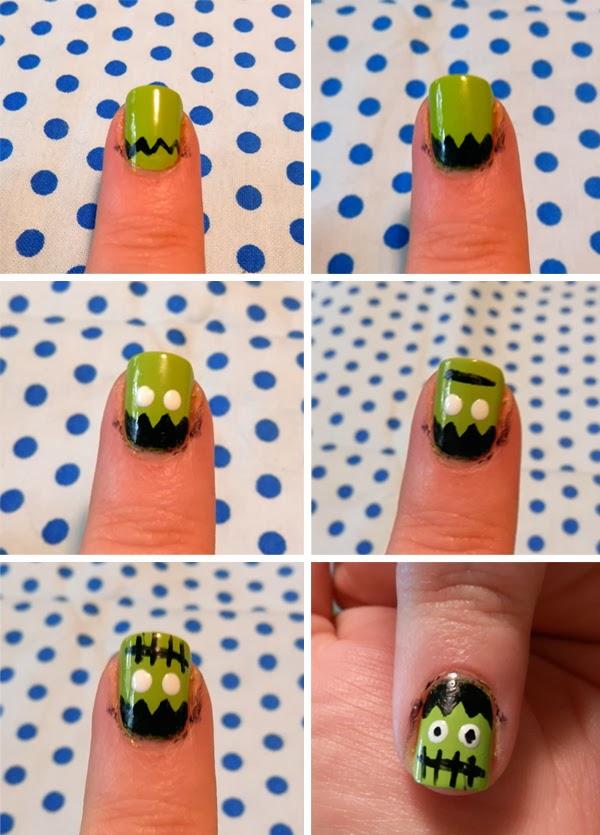 Easy Halloween Nail Art Tutorial | Neon Rattail