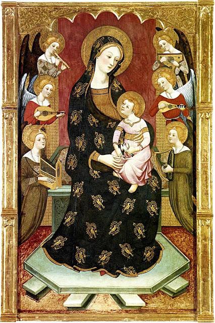 Mãe de Deus com anjos. Pedro Serra
