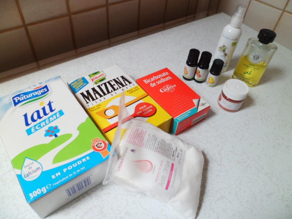 lait en poudrefcule de masbicarbonate de soudeacide citrique huiles essentielleseau dhamamlishuile vgtalecolorants facultatif - Colorant Bain