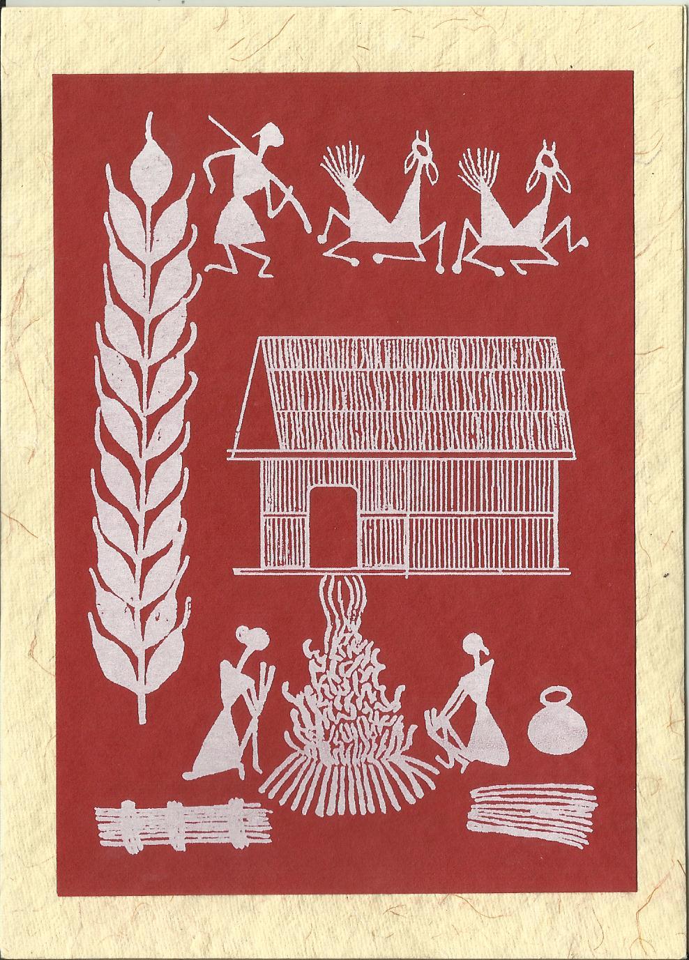 Heritage of india warli paintings greetings cards kristyandbryce Gallery