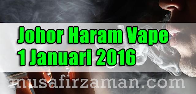 Sultan Johor Haram Vape