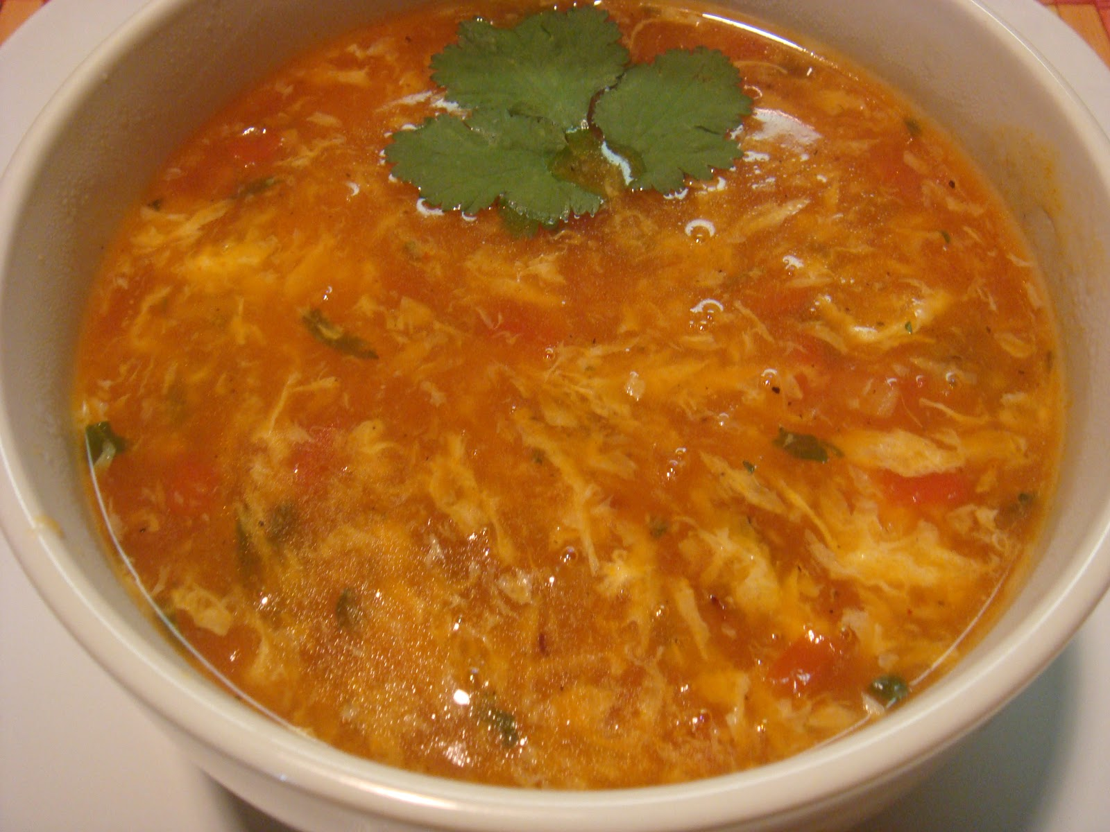Subhra's Kitchen: Tomato Egg Drop Soup