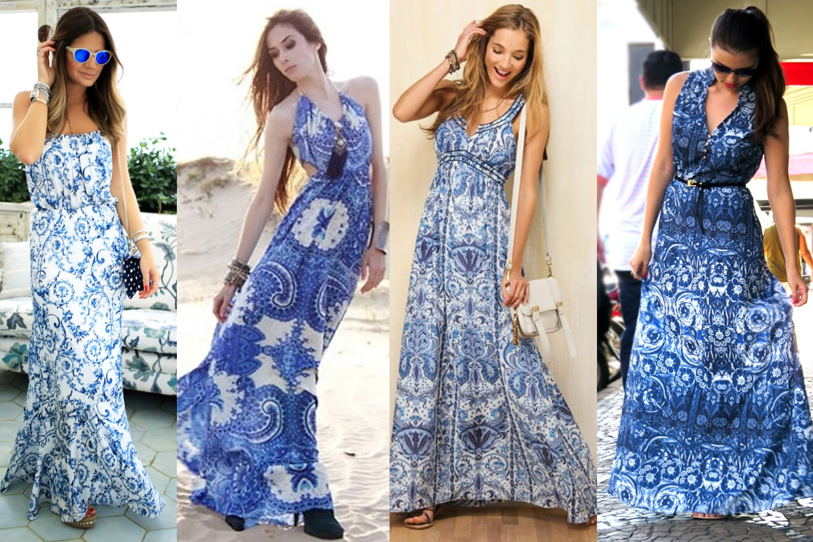 como usar vestido longo 2014