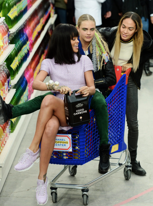 Rihanna, Cara Delevingne and Joan Smalls Chanel