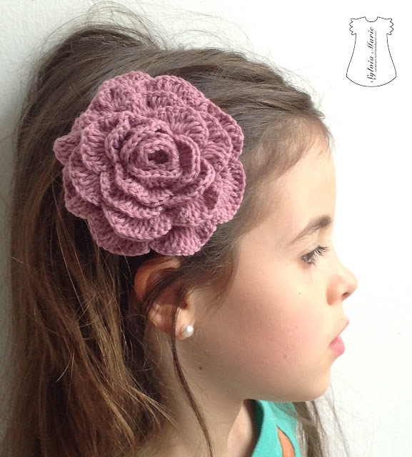 pasadores flores crochet hecho a mano haarspangen blumen häkeln handgemacht