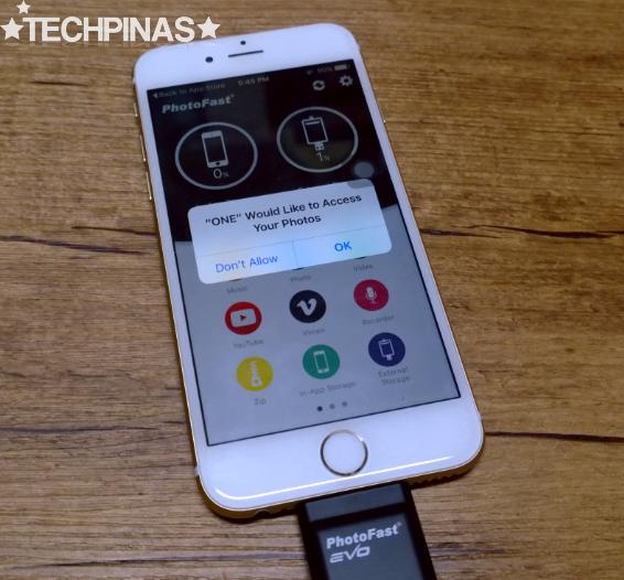 iPhone External Storage, PhotoFast i-FlashDrive
